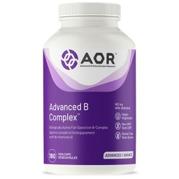 [10011867] Advanced B Complex - 602 mg - 180 veggie capsules